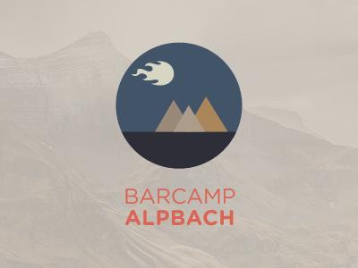 Barcamp Alpbach logo barcamp flat mountains austria