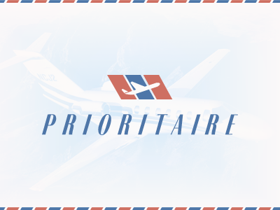Prioritaire Branding branding logo airline exclusive