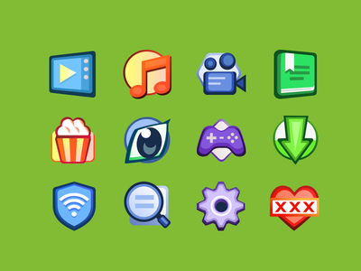 Categories torrent download content movie book icons icon