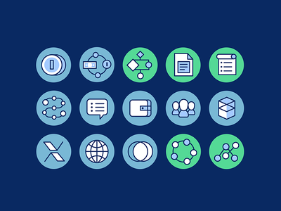 Fantom icons data it money crypto line vector flat icons ui icon