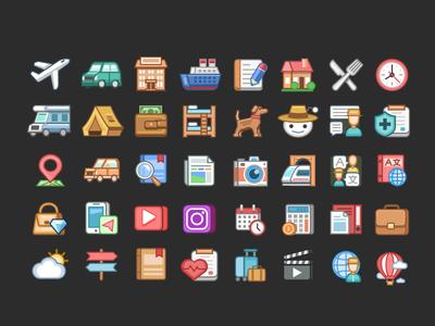 Travelsites icons