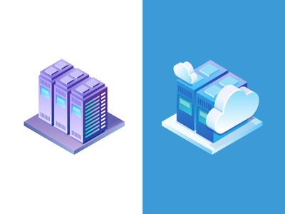 Gapit - dedicated and cloud servers illustration digital it dedicated isometric cloud server