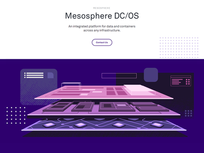 Mesosphere DC/OS it data vector cloud illustrations layers illustration