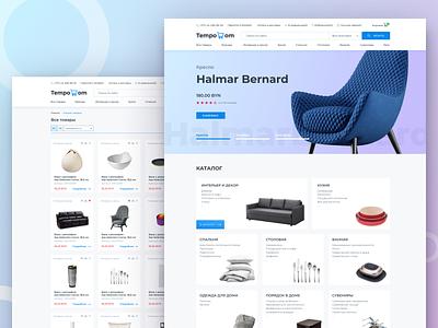 Tempodom Online Store #2 🛒 ux ui web design user interface shop interface figma e-commerce design studio agency design adaptive