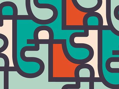 Dee pattern devnagri hindi script curves geometric colour branding