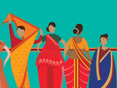 The Saree palloo 9 yards saree gujrati maharashtrian bengali