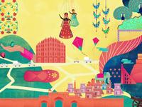 Jaipur Illustration Namaste Dribbble