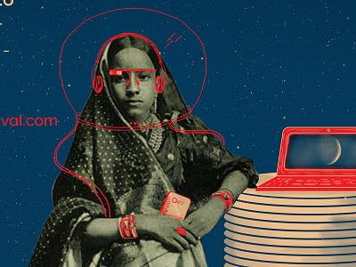 Saree future retro rocket delhi chandni chowk pretty sari future space travel gif comic india dhoti saree