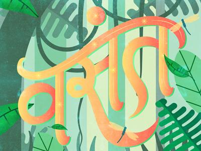 Vasant | Spring slumber easy indic script warm jungle summer spring lettering hindi