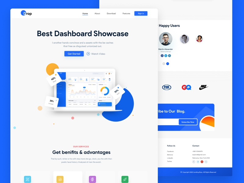 Landing Page - Data and Analytics homepage color analytics web design web ux design ux ui design ui interaction inspiration design brand page webflow marketing site landing website