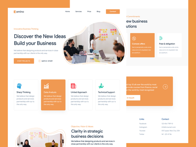 Landing Boys - Business and Product projects strategy business web design web ux design ux ui design ui interaction inspiration design brand page webflow marketing site landing website