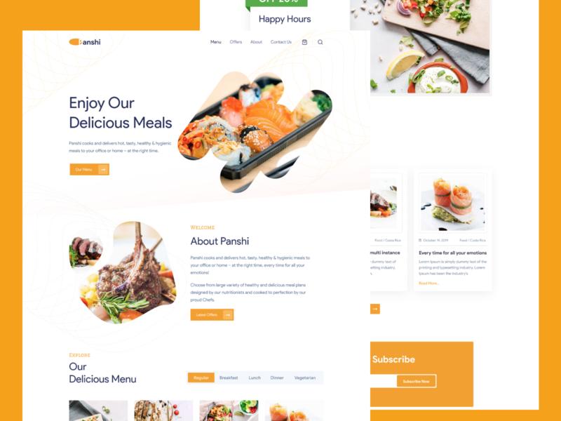 Landing Boys - Food and Restaurant chef recipe cook food web design web ux design ux ui design ui interaction inspiration design brand page webflow marketing site landing website