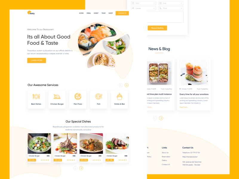 Landing Boys - Food and Recipes chef recipe cook food web design web ux design ux ui design ui interaction inspiration design brand page webflow marketing site landing website