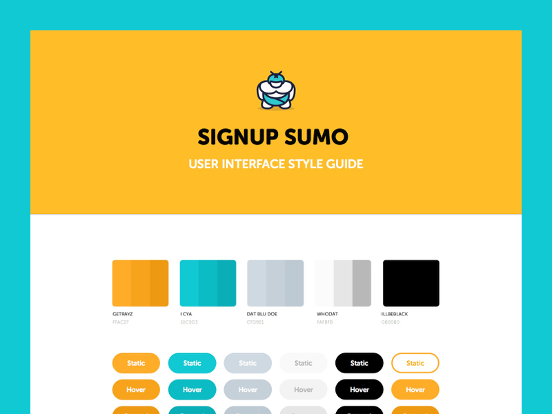SIGNUP SUMO ui user interface style guide kit signup sumo assembly