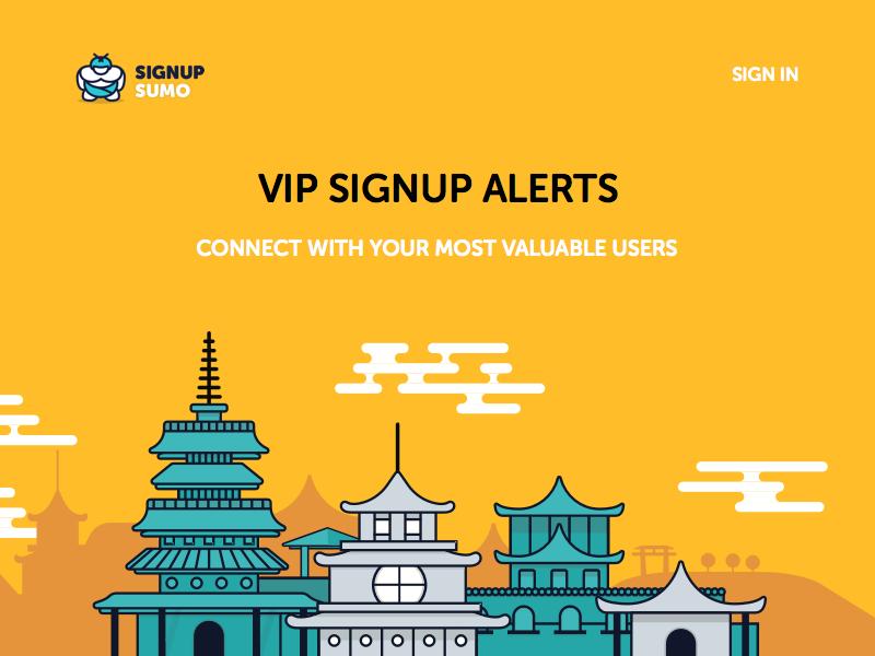 Signup Sumo Illustration illustration building line website web ui color