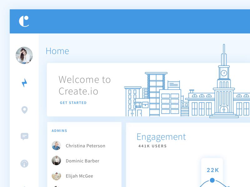 Dashboard UI seattle website app web line creativedash icons dashboard illustration ux ui