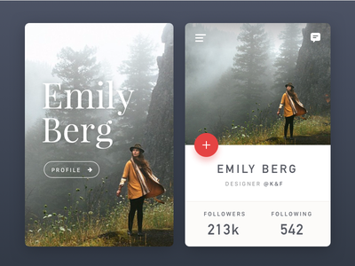 Profile Card  / Free Photography  photo free experience interface user iphone ux ui android material ios