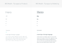 Typography header options