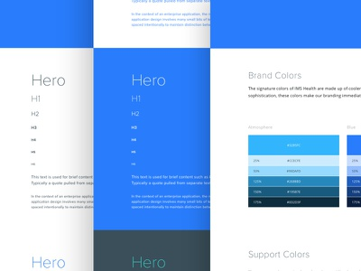 QuintilesIMS Style Guide typography color ios website web ux interface styleguide kit ui health