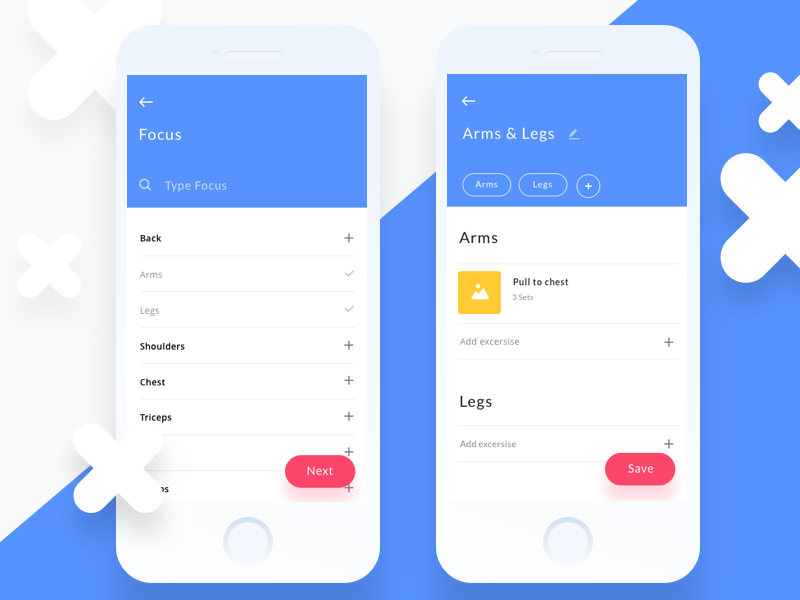 Workout baby ux product iphone app design clean ui health fitness
