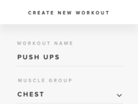 Create new workout