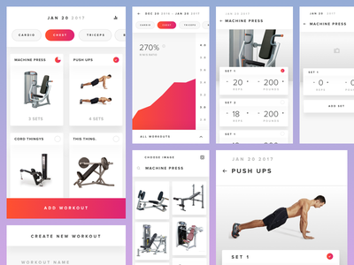 Initial Design Concepts todo interface user app iphone fitness workout design ux ui