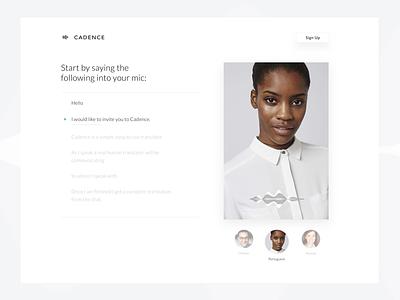 Voice Website los angeles web website app translate simple design clean chat ux ui