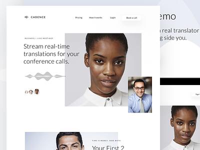 Voice Homepage Website los angeles web website app translate simple design clean chat ux ui
