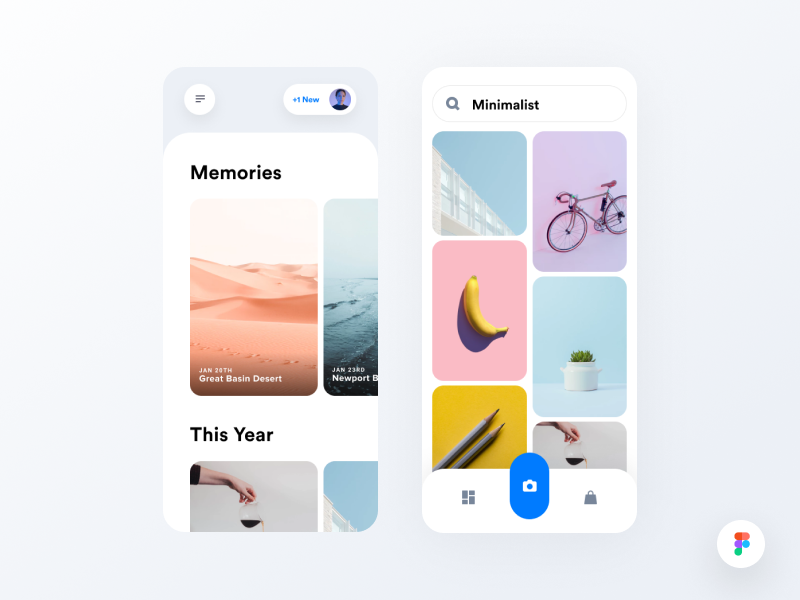 Image Library - Figma Freebie figma freebie seattle los angeles clean mobile user interface interface app iphone camera app camera trending ui