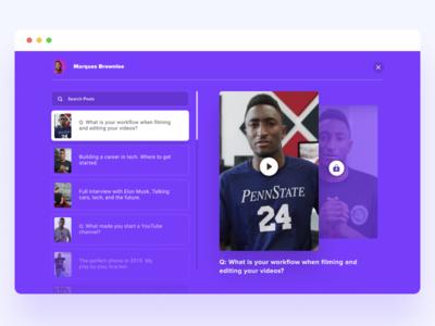 Influencer Video Questions - Web - Desktop