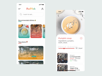 FoodMate design mobile ui mobile app design figma food product design ios food app mobile design mobile app