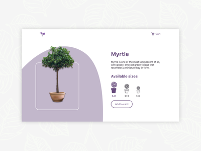 Plant shop webdesign sell flowerpot plants plant e-commerce online shop shop website design dailyui