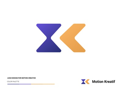 Motion Kreatif (MK) Logo Design creative motion marketing logo branding