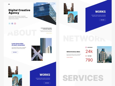 Digital Creative Agency Portfolio portfolio digital creative agency mockup design web