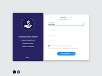 Free Google Material Design HTML Login Template