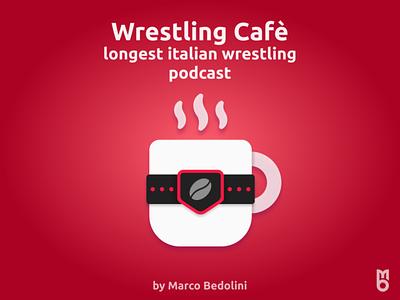 Logo: Wrestling Cafè design logo branding