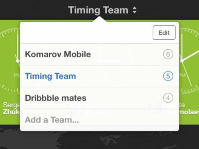 Teams in Timing