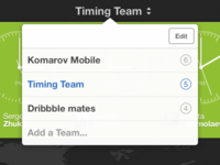 Teams in Timing
