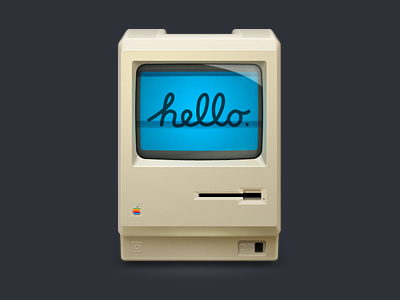 Hello Mac! icon icon macintosh happy birthday steve! 512px