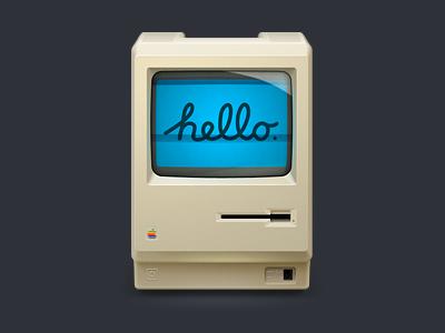 Hello Mac! icon icon macintosh happy birthday steve! 512px