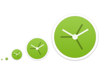 World clock icon sizes