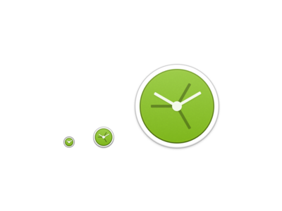 Small sizes of World Clock app icon
