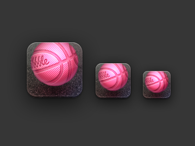 Balllin' app for Dribbble is here! dribbble iphone iphone app icon icons shots players app ball