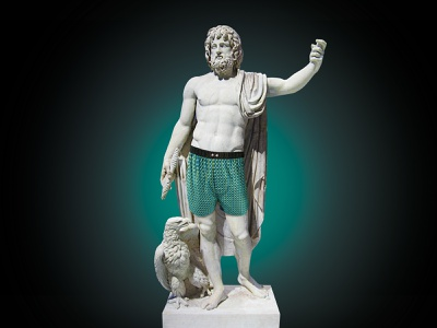 Homme Statue key visual retouche photo illustration photoshop retouching