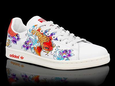 Stan Smith retouche photo graphisme key visual photoshop shoes design illustration retouching retoucheur retouch