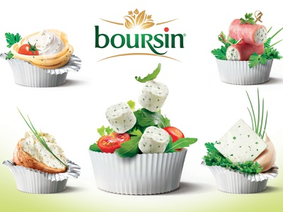 Boursin boursin food packaging retouch retoucheur illustration retouche photo retouching photoshop key visual