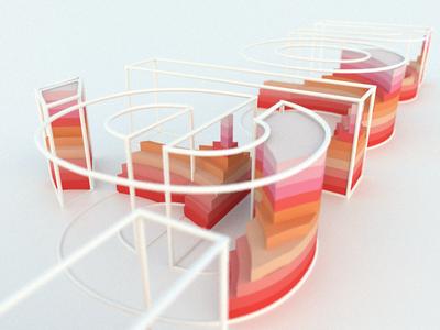 3D type artwork art graphic design design graphic typedesign typeface typography typo type cinema4d c4d 3d art 3d