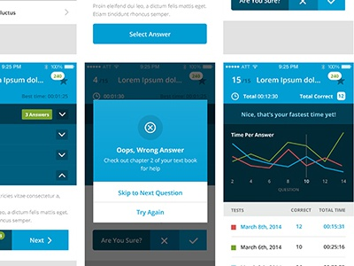 Mobile Application UI Design education mobile app ui blue touch