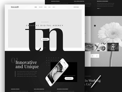 Customer Template black and white modern template