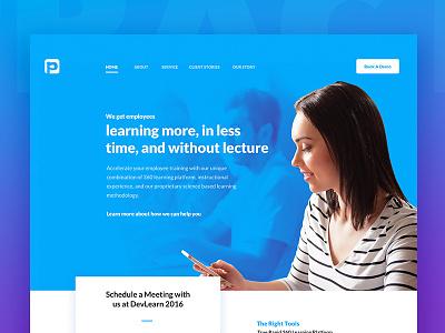 Practi Employee Training Landing Page blue wip landing page